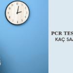 PCR TEST SONUCU KAÇ SAATTE ALINIR